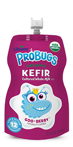 Organic Goo-Berry Pie ProBugs Whole Milk Kefir