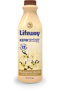 Lifeway Madagascar Vanilla Lowfat Kefir 32oz Bottle