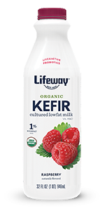 Lifeway Organic Raspberry Lowfat Kefir 32oz Bottle