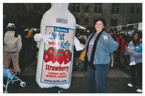 old packaging kefir bottle costume