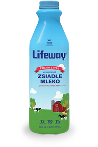 Lifeway Zsiadle Mleko Kefir 32oz Bottle