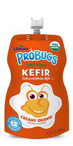 Organic Orange ProBugs Whole Milk Kefir