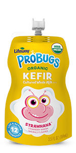 Organic Strawnana ProBugs Whole Milk Kefir