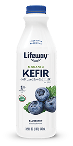 Lifeway Organic Blueberry Lowfat Kefir 32oz Bottle