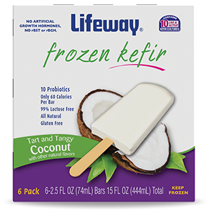 Coconut Frozen Kefir Bars