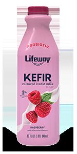 Raspberry Lowfat Kefir