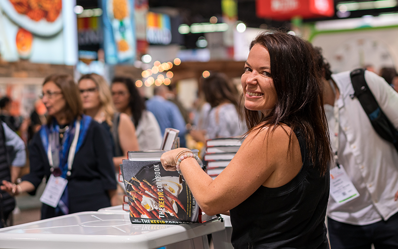 Picture of Julie Smolyansky at the ExpoWest Book Signing March 9, 2018