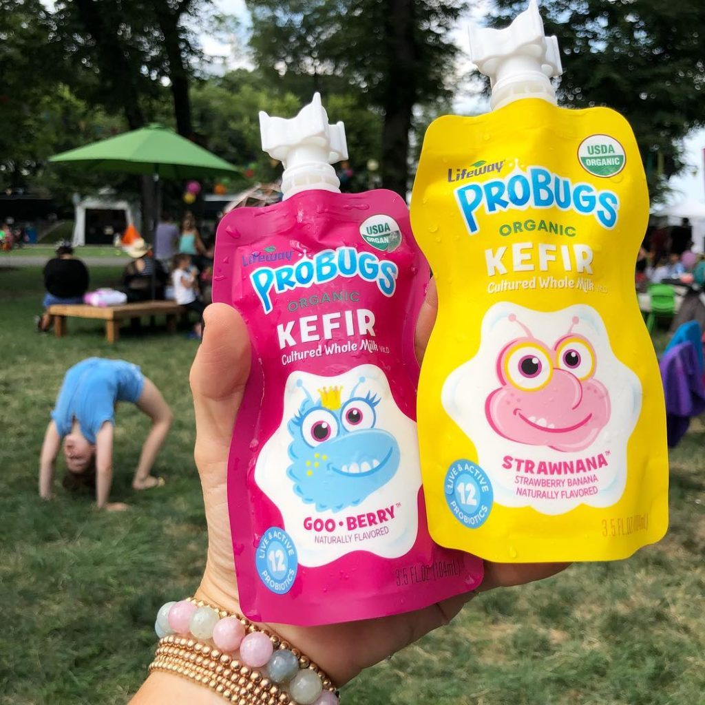 Lifeway Organic ProBugs being sampled at Kidzapalooza and Lollapalooza 2018.