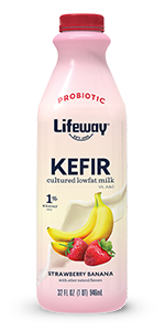 lifeway strawberry banana lowfat kefir