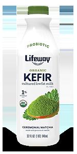 lifeway organic ceremonial green tea matcha lowfat kefir