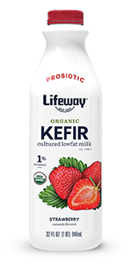 Organic Strawberry Lowfat Kefir