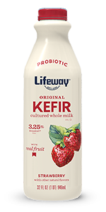 Strawberry Whole Milk Kefir with Real Fruit
